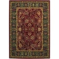 Royal Kashimar Cypress Garden Persian Red Wool Rug (5'3 x 7'6)