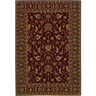 Royal Luxury Brentwood Bordeaux Wool Rug (7'10 x 11'1)