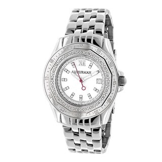 Luxurman Women's 1/4ct Diamond White Automatic Watch