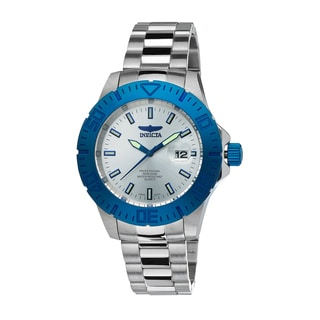 Invicta Men's Pro Diver Stainless Steel Blue Accent Watch