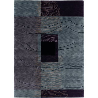 Pokhara Grotto Grey Wool Area Rug (8' x 11')