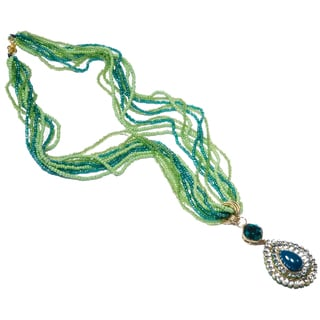 Kramasa Emerald and Peridot Green Bead Fashion Handmade Necklace (India)