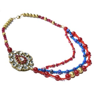 Kramasa Lapiz and Bead Handmade Necklace (India)