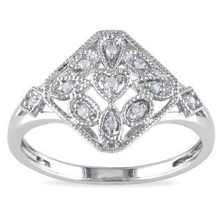 Haylee Jewels Sterling Silver Diamond Accent Vintage Ring