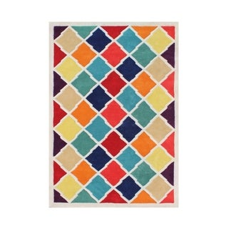 Alliyah Handmade Multi-Color New Zealand Blended Wool Rug (9 x 12)