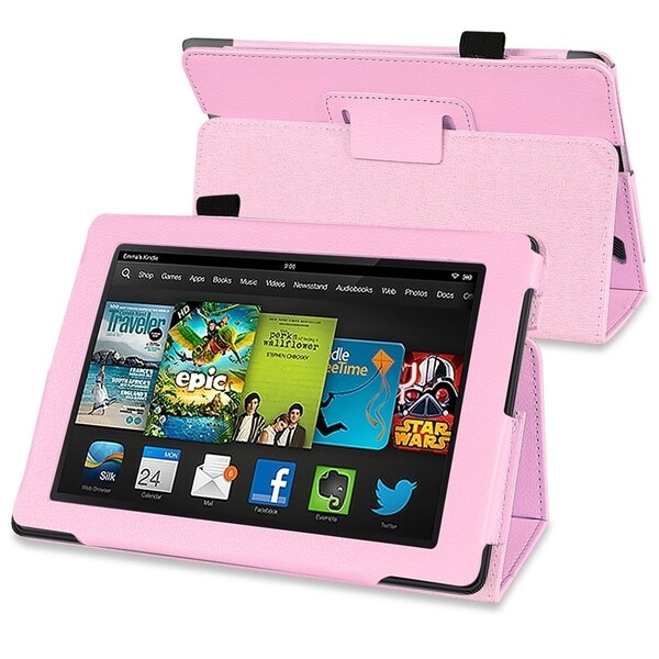 BasAcc Pink Stand Leather Case for Amazon Kindle Fire HD 7-inch