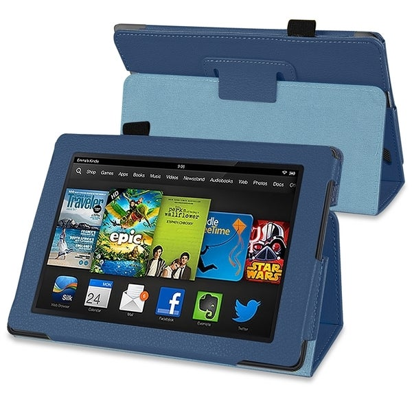 BasAcc Navy Blue Stand Leather Case for Amazon Kindle Fire HD 7-inch