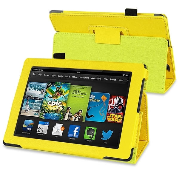 BasAcc Yellow Stand Leather Case for Amazon Kindle Fire HD 7-inch
