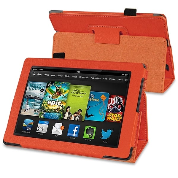 BasAcc Orange Stand Leather Case for Amazon Kindle Fire HD 7-inch