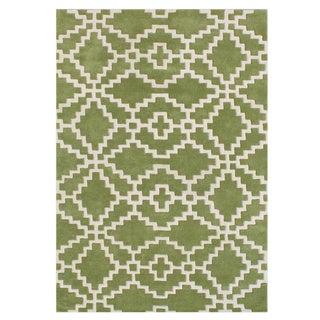 Alliyah Lime Green Handmade New Zealand Blended Wool Rug (9 x 12)
