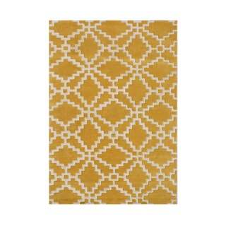 Alliyah Handmade Mustard New Zealand Blend Wool Rug (9 x 12)
