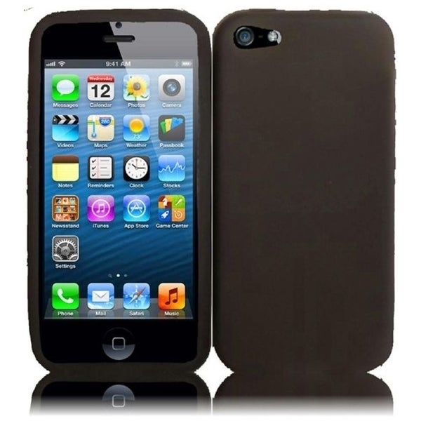INSTEN Smoke Rubber Soft Silicone Soft Skin Gel Phone Case Cover for Apple iPhone 5/ 5S