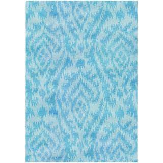 Hand-spun Sagano Mystic Haze Azure Rug (8' x 11')