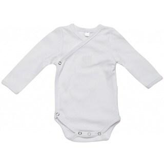 Kimono White Long Sleeve Bodysuit