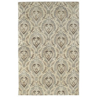 St. Joseph Taupe Damask Hand-Tufted Wool Rug (8'0 x 10'0)