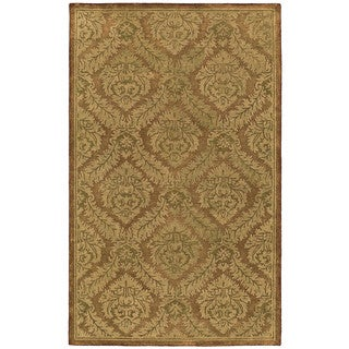St. Joseph Copper Damask Hand-Tufted Wool Rug (9'6 x 13'0)