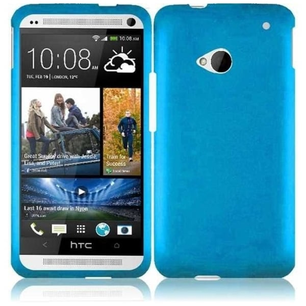 INSTEN Cool Blue Phone Case Cover for HTC One M7