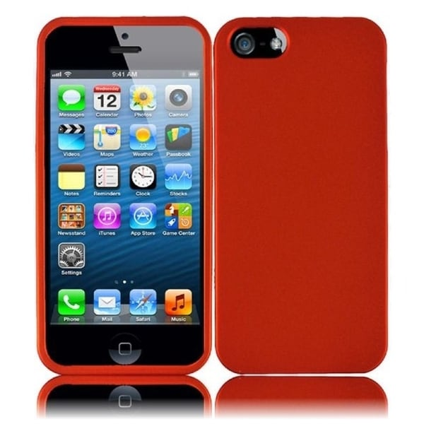 INSTEN Orange Rubberized Hard Plastic PC Snap-on Phone Case Cover for Apple iPhone 5/ 5S