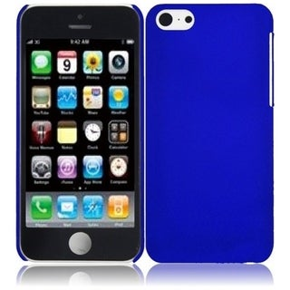 BasAcc Blue Rubberized Hard Plastic PC Snap-on Phone Case Cover for Apple iPhone 5C