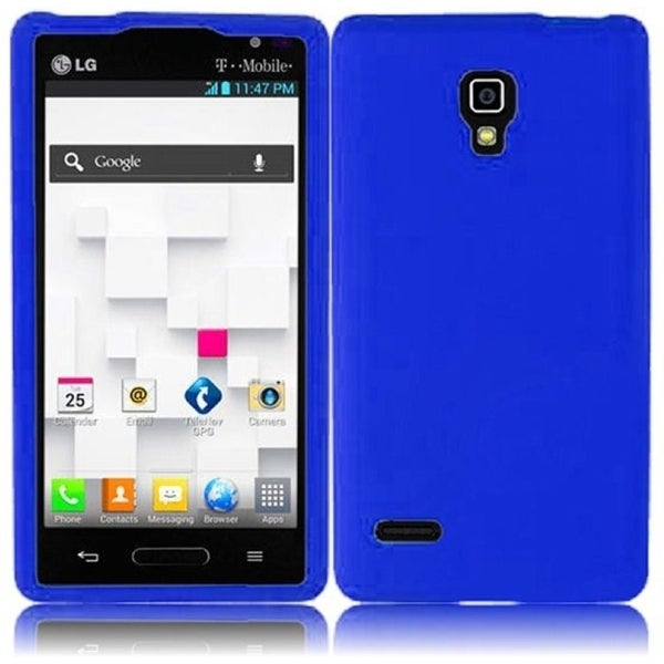 INSTEN Blue Soft Silicone Phone Case Cover for LG Optimus L9 P769T