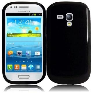INSTEN Premium Black TPU Rubber Candy Skin Phone Case Cover for Samsung Galaxy S3/ S III Mini GT-I81