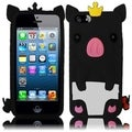 BasAcc Black Cute Pig Silicone Case for Apple iPhone 5/ 5S