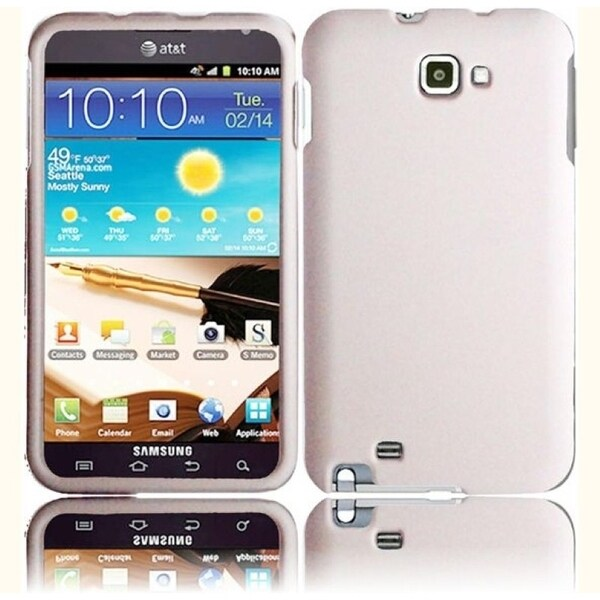 INSTEN Rubberized Hard Plastic Snap-on Phone Case Cover for Samsung Galaxy Note 1st Generation/ Note II/ Note LTE