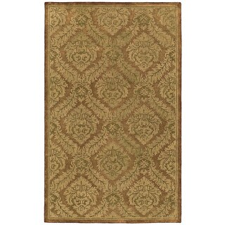 St. Joseph Copper Damask Hand-Tufted Wool Rug (3'6 x 5'3)