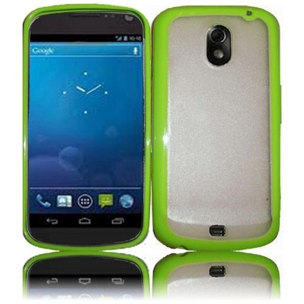 BasAcc Clear/ Neon Green TPU Case for Samsung i515 Galaxy Nexus