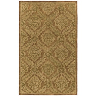 St. Joseph Copper Damask Hand-Tufted Wool Rug (8'0 x 10'0)