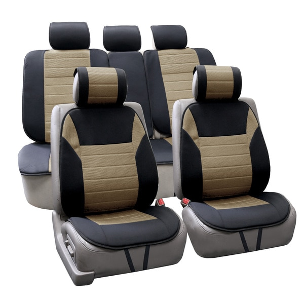 FH Group Beige Thick Foam Padding Seat Cushion Pads (Full Set)