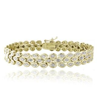 DB Designs Goldtone Diamond Accent Bracelet