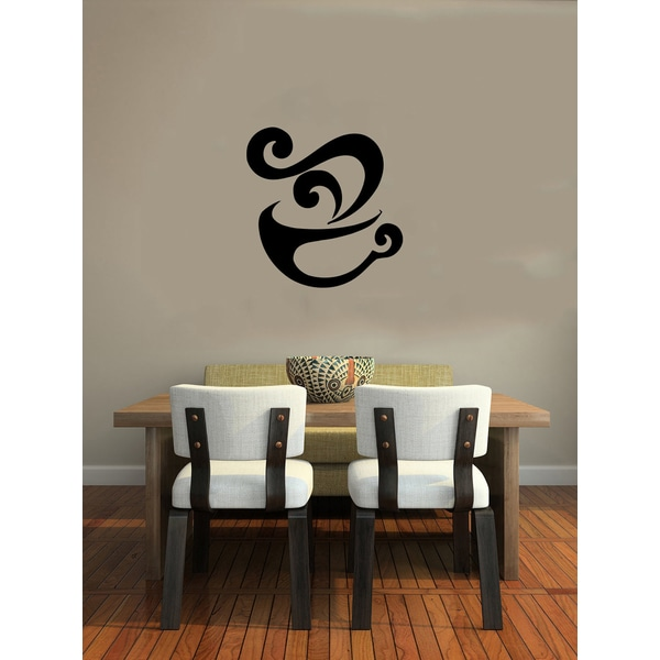 Steaming Cup of Coffee Vinyl Wall Decal 12079163