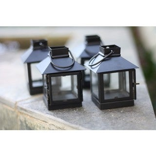 Mini Black Tea Light Lantern (India)