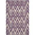 Safavieh Handmade Moroccan Cambridge Contemporary Purple/ Ivory Wool Rug (3' x 5')