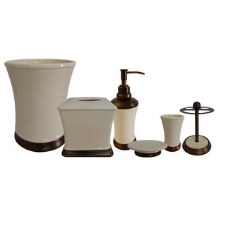 Emerson Ivory Bath Accessories 6 Piece Set