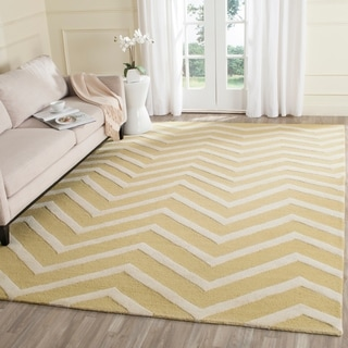 Safavieh Handmade Moroccan Cambridge Light Gold/ Ivory Wool Rug (8' x 10')