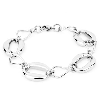 Stainless Steel Polished Oval Link Bracelet