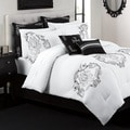 Crescent Ave 12 piece Embroidered Bed in a Bag with Sheet Set