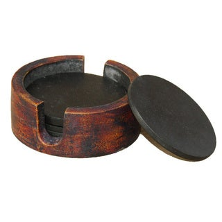 Rustic Wood Coasters (India)