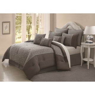 Jade Blossom 9-piece Cotton Comforter Set