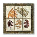 Tina Chaden 'Leaf Study Tile 2' Abstract Metal Wall Sculpture