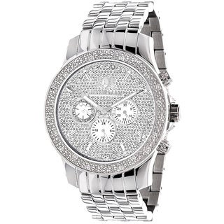 Luxurman Men's Real 1/4ct TDW White Diamond Watch