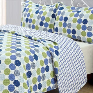 'Dotty' 3-piece Reversible Cotton Quilt Set