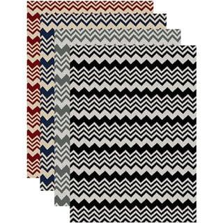 'Ashley' Chevron Contemporary Area Rug (5'5 x 7'7)