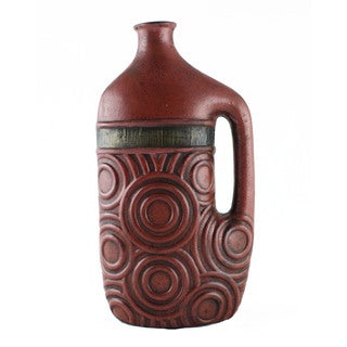 Handcrafted Rustic Ceramic Vase (India)