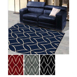'Ashley' Diamond Print Contemporary Area Rug (3'3 x 4'11)
