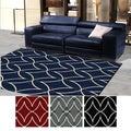 'Ashley' Diamond Modern Area Rug (7'9 x 11')