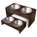 PetFusion Elevated Pet Feeder in Solid Pine