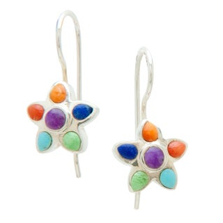 Peyote Bird Flower Power Dangle Earrings (Thailand)